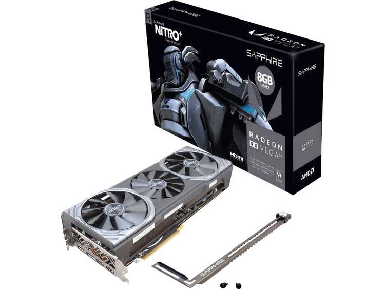 Videokaart Sapphire AMD Radeon RX Vega 64 Nitro+ 8 GB HBM2-RAM PCIe x16 HDMI, DisplayPort