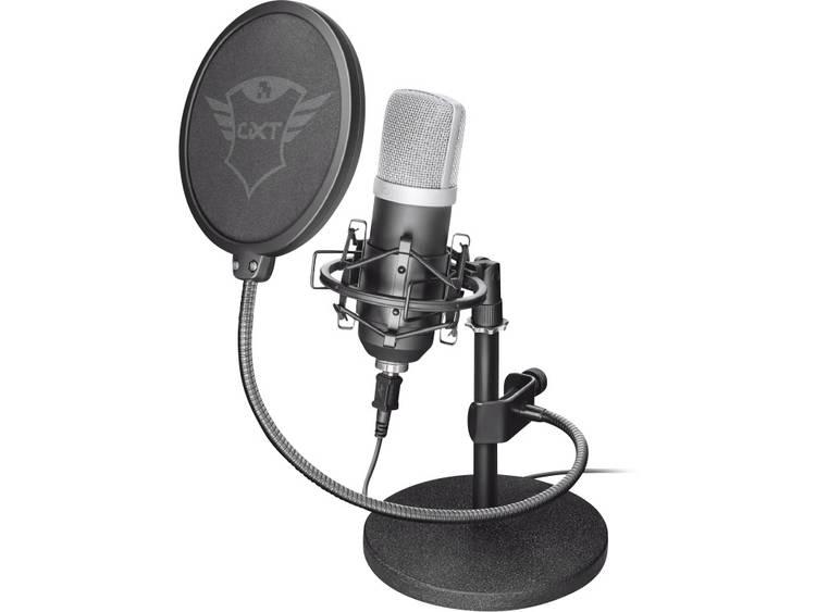 PC-microfoon Trust GXT 252 Emita Zwart Kabelgebonden Voet