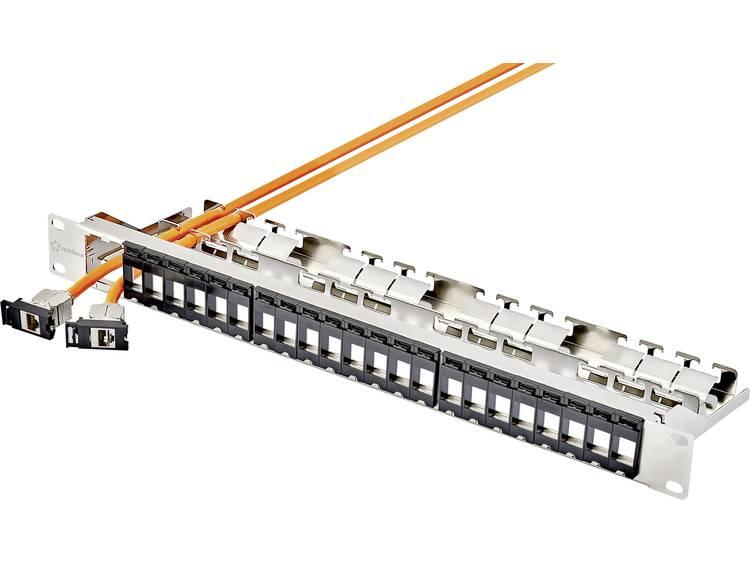 24 poorten Netwerk patchpanel Renkforce Keystone module 24x keystone Leeg 1 HE