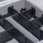 Koffer met aluminiumframe 445 x 355 x 145 mm zwart