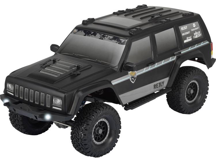 Reely Free Men 1:10 Brushed RC auto Elektro Crawler 4WD 100% RTR 2,4 GHz Incl. accu, oplader en batt