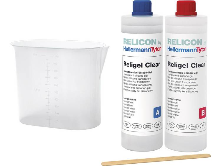 Tweecomponentengel HellermannTyton 435-00757 Religel Clear 500ml-SIG-CL Inhoud: 1 set