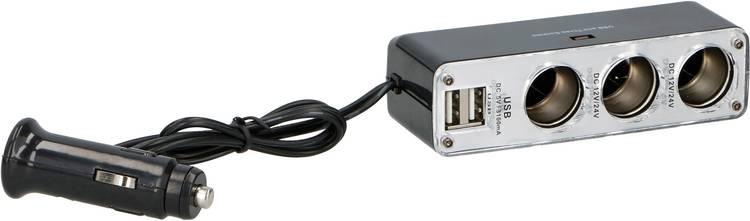 Image of Sigarettenaanstekerverdeler Aantal sigarettenaanstekerbussen: 3 x Interfaces: USB 2 x Stroombelasting (max.): 3.1 A Dunlop 05832
