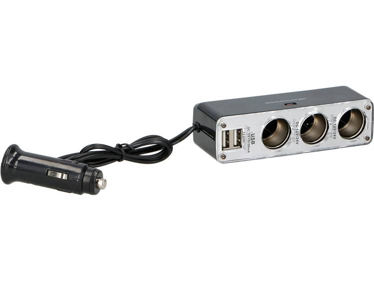 Sigarettenaanstekerverdeler Aantal sigarettenaanstekerbussen 3 x Interfaces USB 2 x Stroombelasting (max.) 3.1 A Dunlop 05832
