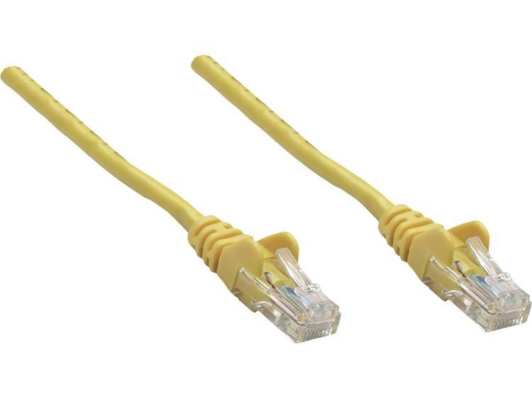 Netwerkkabel RJ45 CAT 5e U/UTP 0.25 m Geel Intellinet