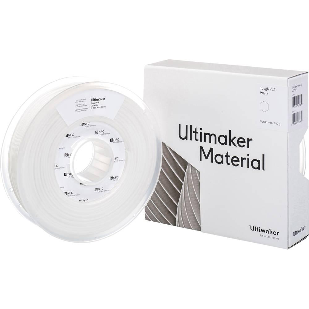 Ultimaker 3D-skrivare Filament Tough PLA 2.85 mm Vit 750 g