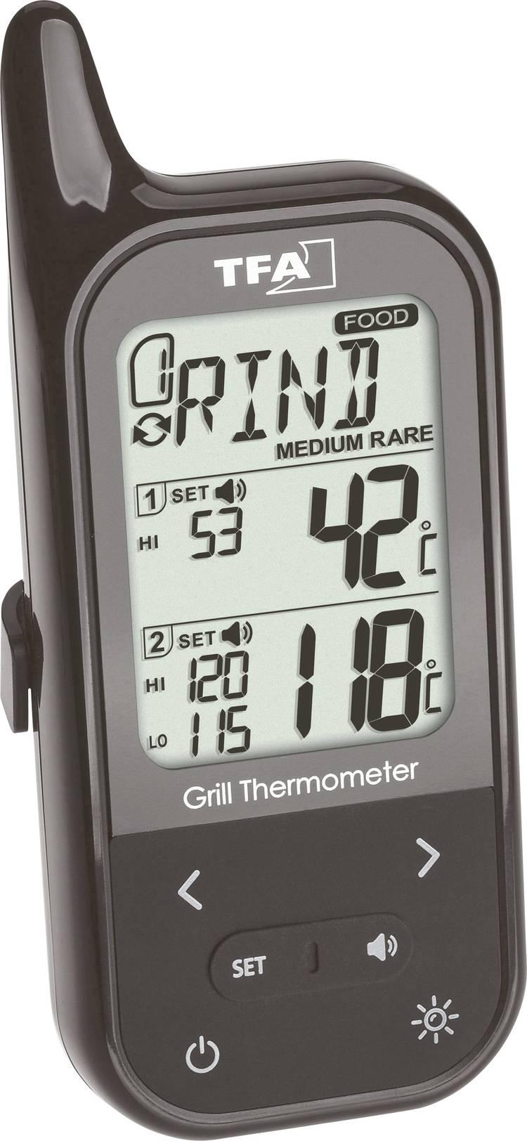 TFA 14.1511.01 Barbecuethermometer alarm. kabelsensor. oven- en kerntemperatuur