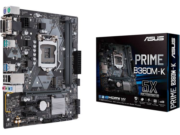 Asus PRIME B360M-K Moederbord Socket Intel® 1151v2 Vormfactor Micro-ATX Moederbord chipset Intel® B360