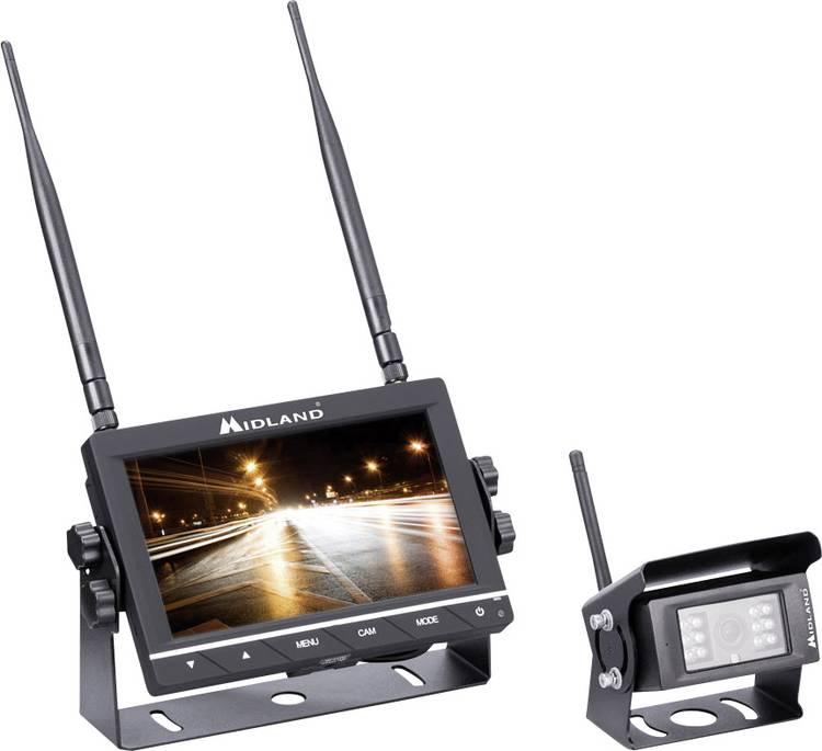 Image of Draadloos achteruitrijcamera systeem Midland Truck Guardian 4 camera-ingangen, Afstandshulplijnen, Extra IR-verlichting, Geïntegreerde microfoon Vaste montage,