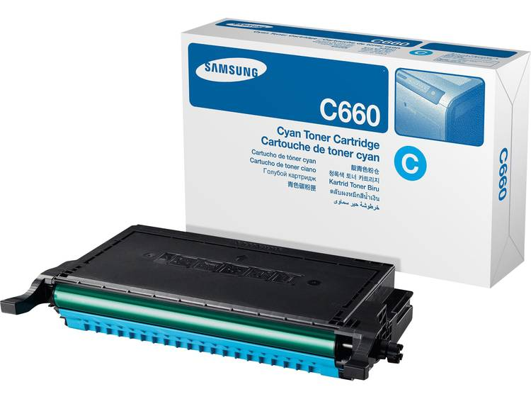 Samsung Tonercassette CLP C660A ST880A Origineel Cyaan 2000 bladzijden