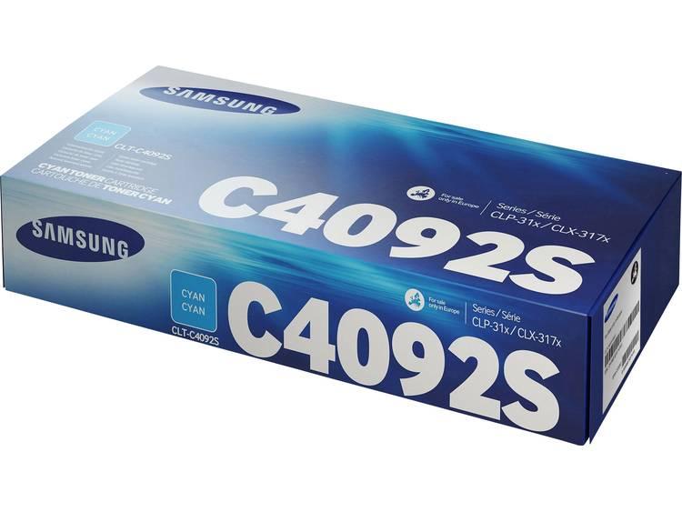 Samsung Tonercassette CLT C4092S SU005A Origineel Cyaan 1000 bladzijden