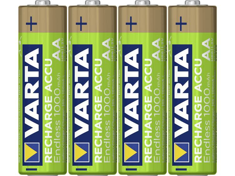 Varta Endless Ready to Use Oplaadbare AA batterij (penlite) NiMH 1000 mAh 1.2 V 4 stuk(s)