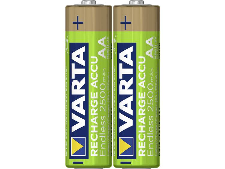 Varta Endless Ready to Use Oplaadbare AA batterij (penlite) NiMH 2500 mAh 1.2 V 2 stuk(s)