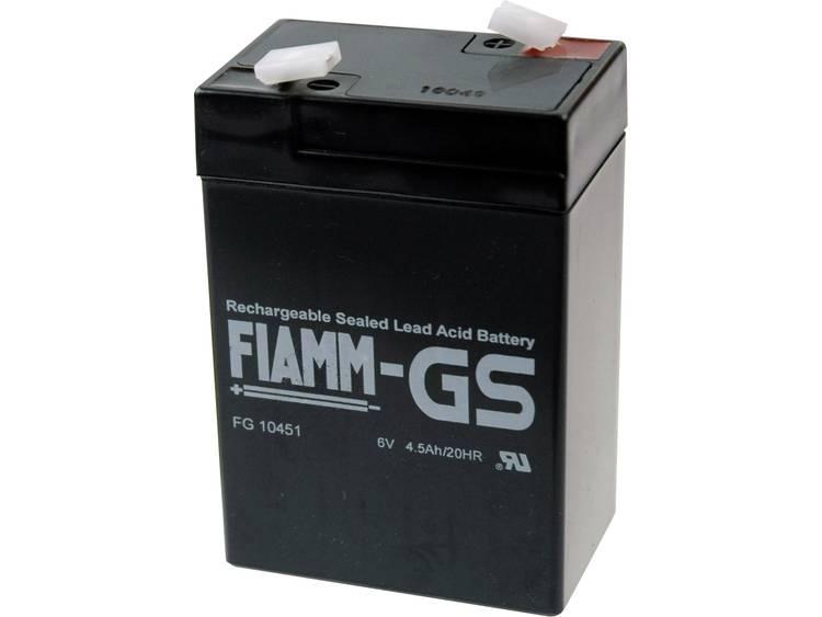 Fiamm PB-6-4,5 Loodaccu 6 V 4.5 Ah Loodvlies (AGM) (b x h x d) 70 x 106 x 47 mm Kabelschoen 4.8 mm Onderhoudsvrij, Geringe zelfontlading