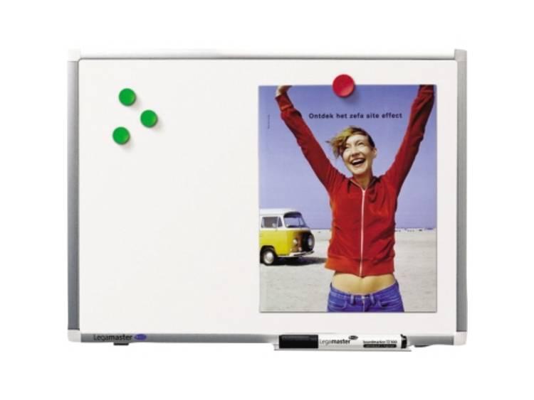Legamaster Whiteboard (b x h) 450 mm x 300 mm Wit geëmailleerd Incl. opbergbakje, Incl. boardmarker