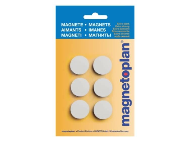 Magnetoplan Discofix Hobby (Ã x h) 25 mm x 8 mm rond Wit 6 stuks 16645600