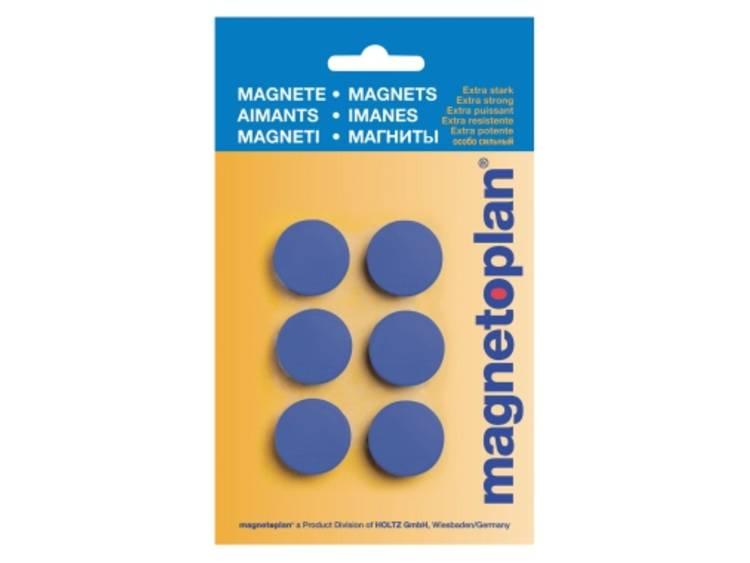 Magnetoplan Discofix Hobby (Ã x h) 25 mm x 8 mm rond Donkerblauw 6 stuks 16645614