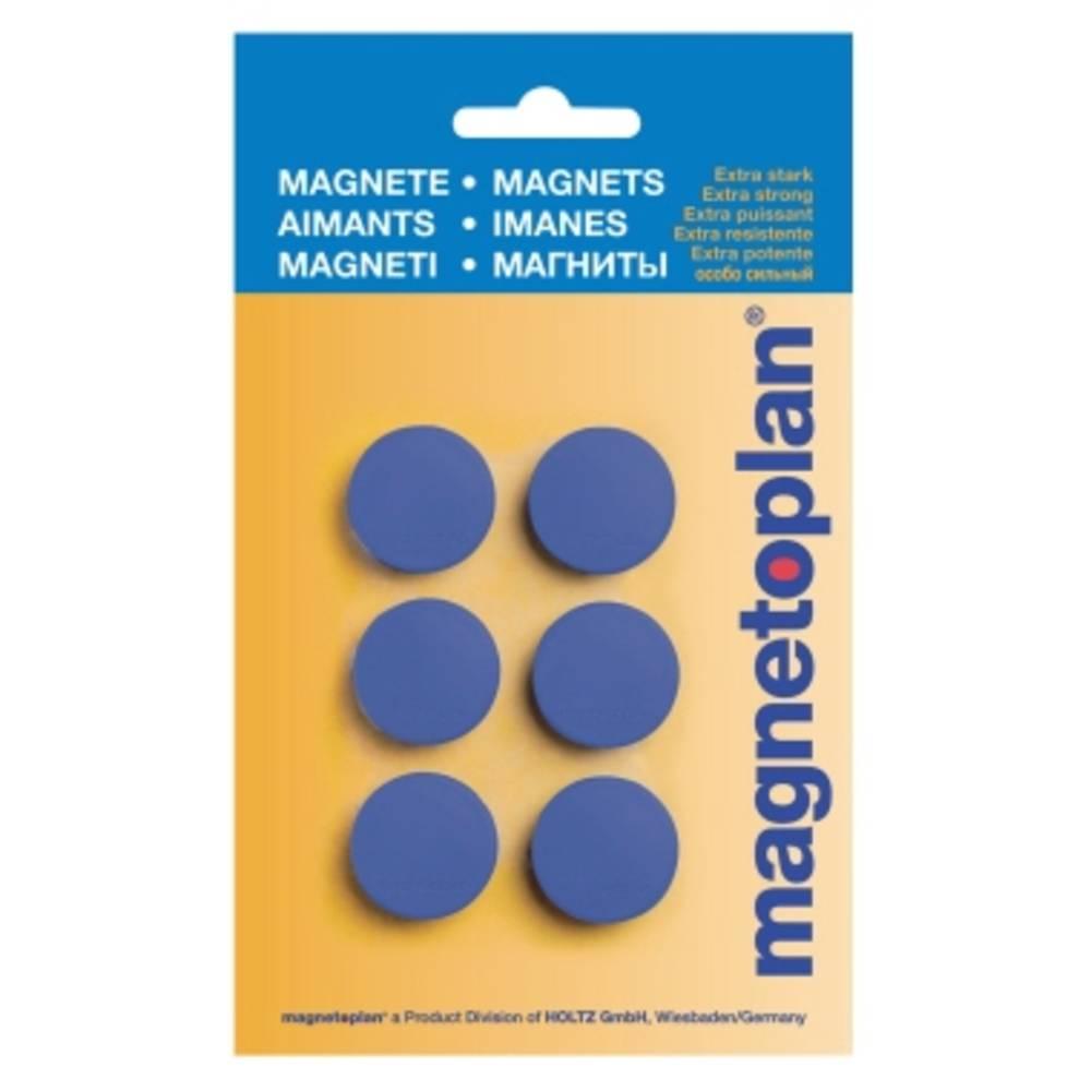 Magnetoplan Magnet Discofix Hobby (Ø x H) 25 mm x 8 mm rund Mörkblå 6 st 16645614