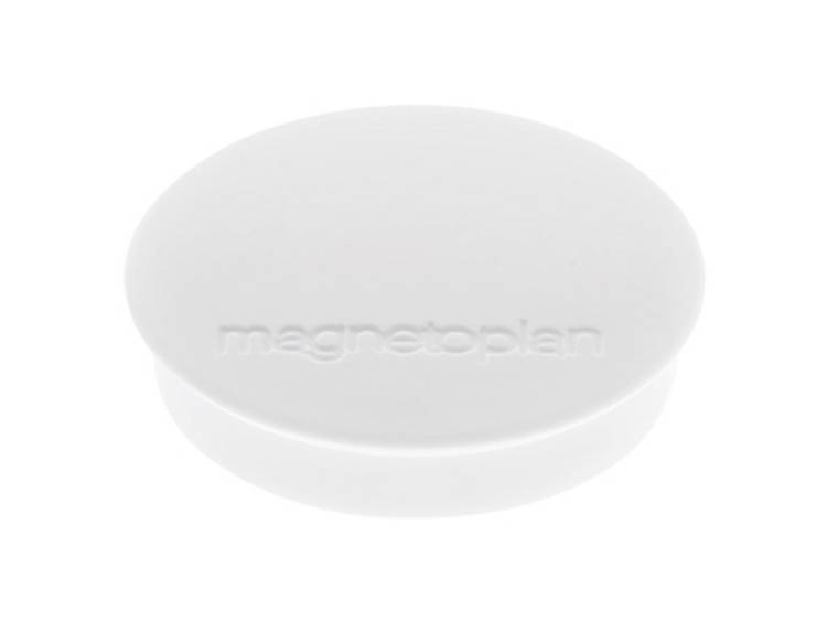 Magnetoplan Discofix Standard (Ã x h) 30 mm x 8 mm rond Wit 10 stuks 1664200