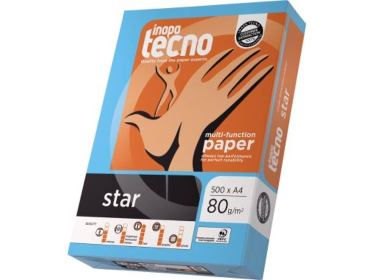 Printpapier Inapa Tecno Star 013908010001 DIN A4 80 g/m² 500 vellen Wit