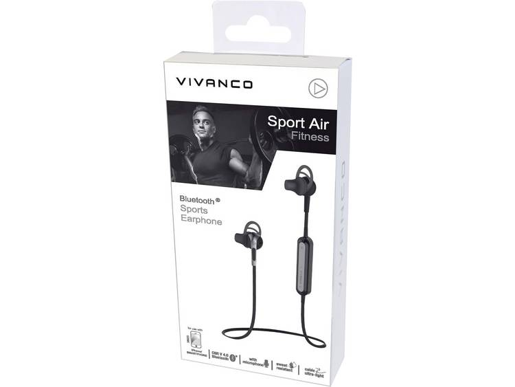 Vivanco SPORT AIR FITNESS Bluetooth Sport Headset stereo Bestand tegen zweet Zwart