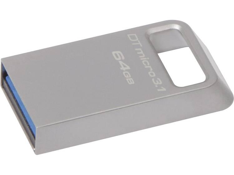 Kingston DataTraveler Micro 3.1 USB-stick 64 GB Zilver DTMC3/64GB USB 3.1