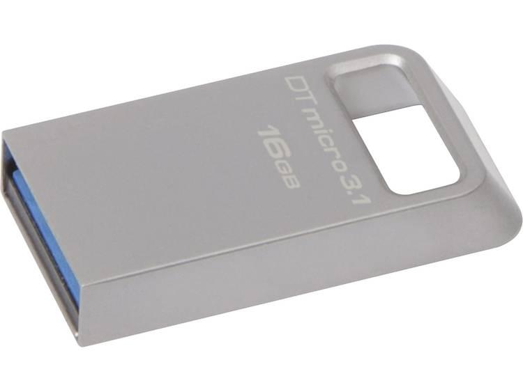 Kingston DataTraveler Micro 3.1 USB-stick 16 GB Zilver DTMC3/16GB USB 3.1