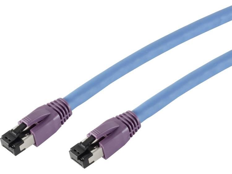 Smart RJ45 Netwerk Aansluitkabel S FTP 10 m Blauw Vergulde steekcontacten Snagl