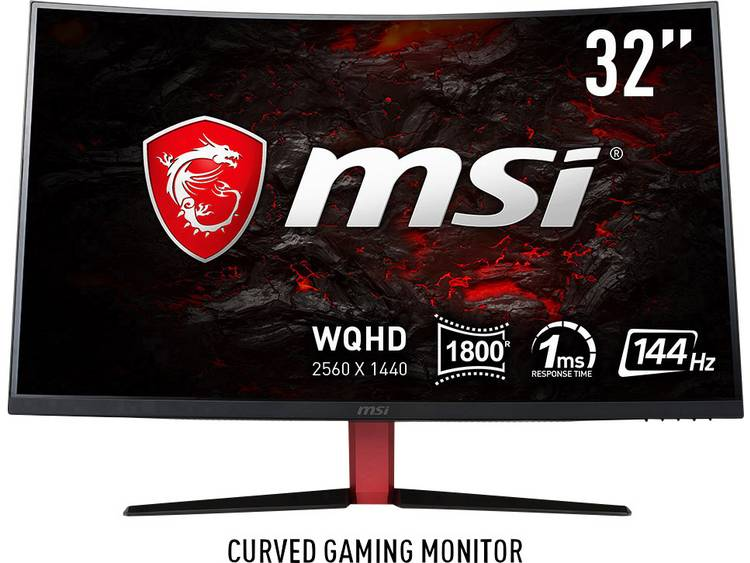 MSI Gaming Optix AG32CQ-8015 LED-monitor 80 cm (31.5 inch) Energielabel B (A++ – E) 2560 x 1440 pix WQHD 1 ms DVI, HDMI, DisplayPort VA LED