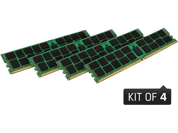 PC-werkgeheugen kit Kingston KVR24R17S8K4/32 KVR24R17S8K4/32 32 GB 4 x 8 GB DDR4-RAM 2400 MHz CL 17-17-17