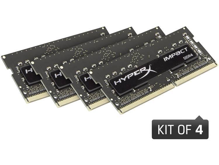 Laptop-werkgeheugen kit HyperX HX424S15IBK4/16 HX424S15IBK4/16 16 GB 4 x 4 GB DDR4-RAM 2400 MHz CL 15-15-15