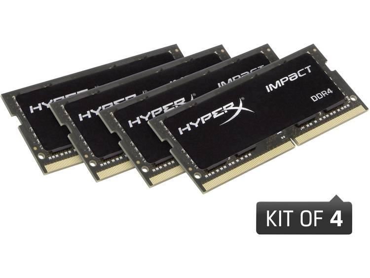 Laptop-werkgeheugen kit HyperX HX424S15IB2K4/32 HX424S15IB2K4/32 32 GB 4 x 8 GB DDR4-RAM 2400 MHz CL15