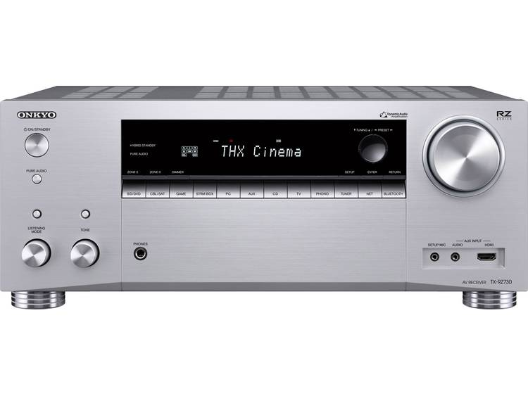7.2 AV-receiver Onkyo TX-RZ730 7x175 W Zilver AirPlay, Bluetooth, Dolby Atmos, USB