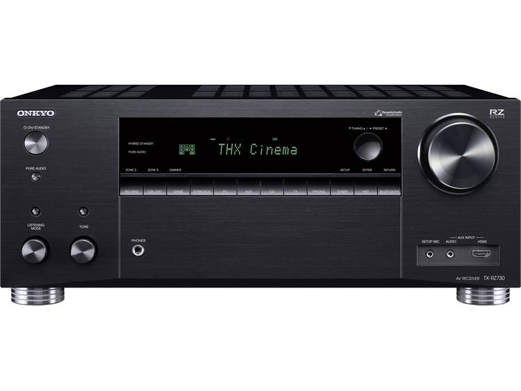 7.2 AV-receiver Onkyo TX-RZ730 7x175 W Zwart AirPlay, Bluetooth, Dolby Atmos, USB