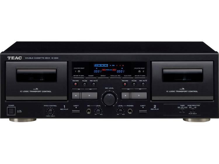 TEAC W-1200 Cassettedeck Zwart