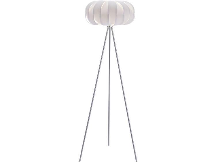 Vloerlamp LED E27 60 W LeuchtenDirekt Alissa 12142-16 Wit
