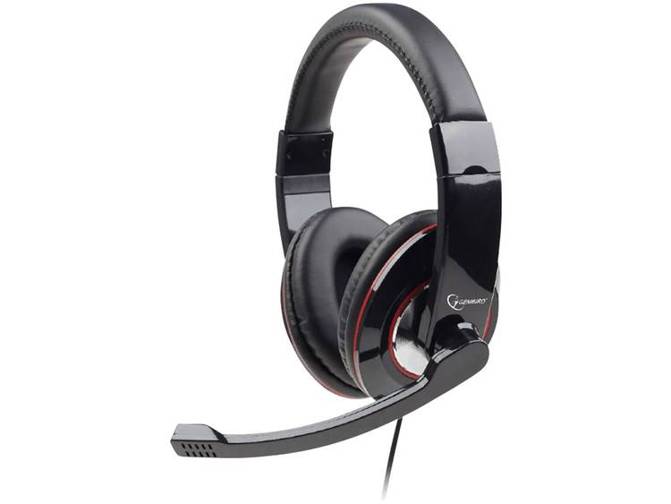 Gembird MHS-U-001 PC-headset USB Kabelgebonden Over Ear Zwart