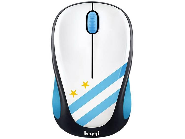 Logitech M238 Argentina Draadloze muis Optisch Lichtblauw, Wit