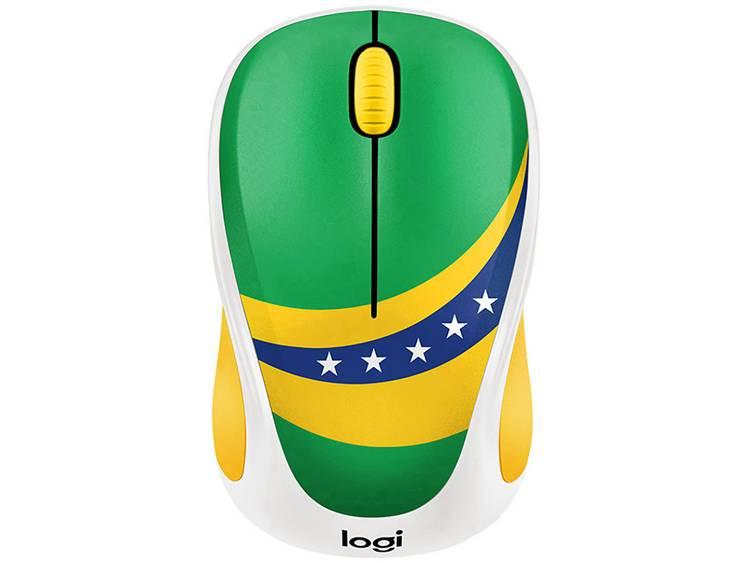 Logitech M238 Brazil Draadloze muis Optisch Groen, Geel, Blauw