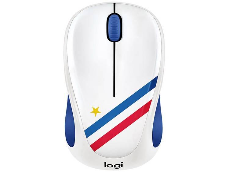 Logitech M238 France Draadloze muis Optisch Blauw, Wit, Rood