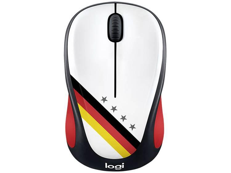 Logitech M238 Germany Draadloze muis Optisch Zwart, Rood, Goud