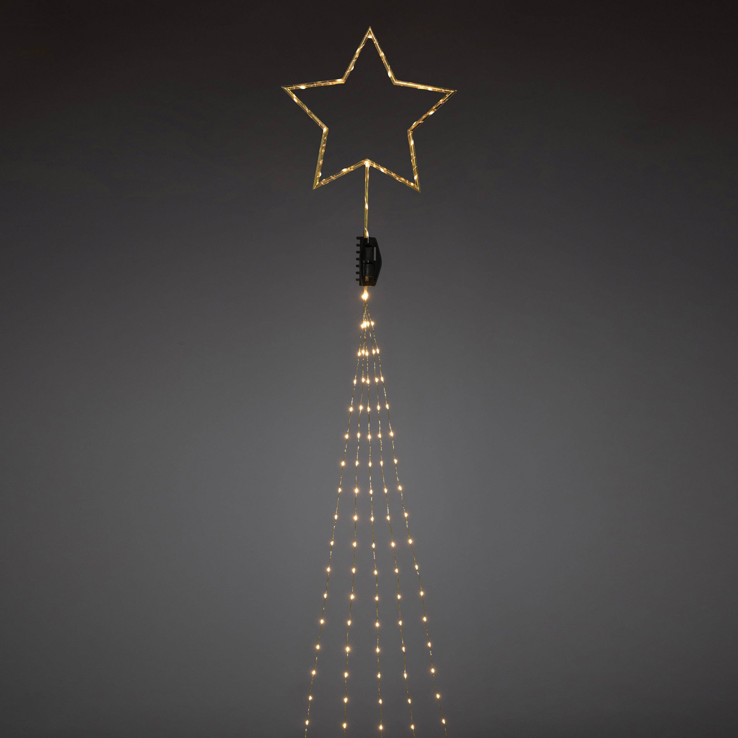 led boommantel ster binnen werkt op het lichtnet 308 led amber verlichte lengte 235 m konstsmide 6315 860