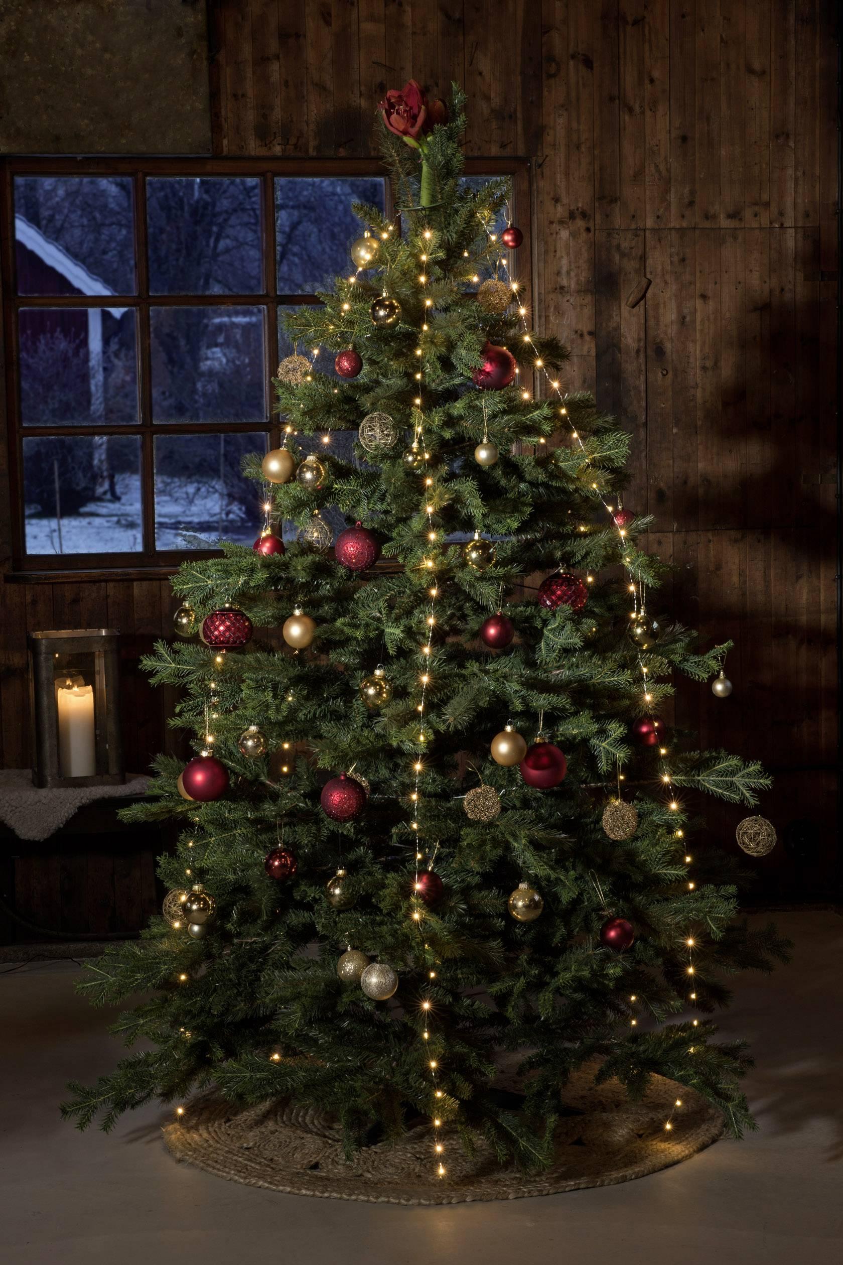 led boommantel druppel binnen werkt op het lichtnet 300 led amber verlichte lengte 3 m konstsmide 6379 890