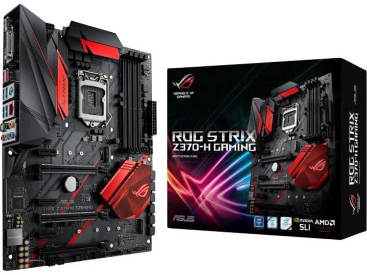 Asus ROG Strix Z370-H Gaming Moederbord Socket Intel® 1151v2 Vormfactor ATX Moederbord chipset Intel® Z370