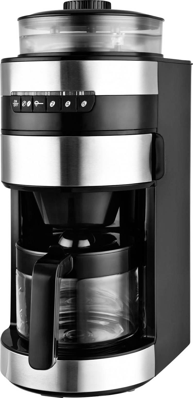 TKG Team Kalorik TKG CCG 1006 Koffiezetapparaat Zwart RVS Capaciteit koppen: 6 Glazen kan. met koffiemolen. One Touch