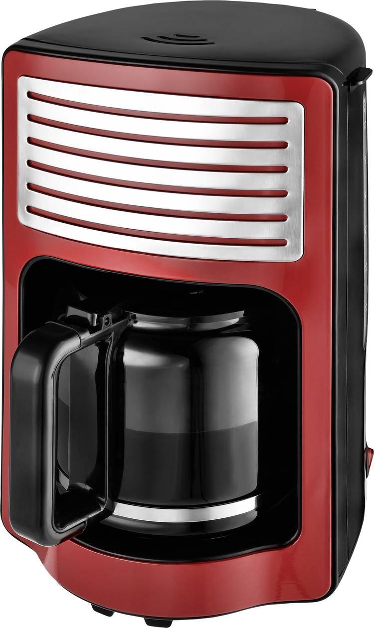TKG Team Kalorik TKG CM 2500 R Koffiezetapparaat Rood Capaciteit koppen=15 Glazen kan