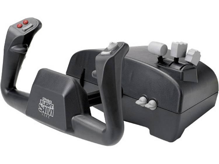 Aerosoft CH Flight Sim Yoke USB Vliegsimulator-controller USB PC, Mac Zwart