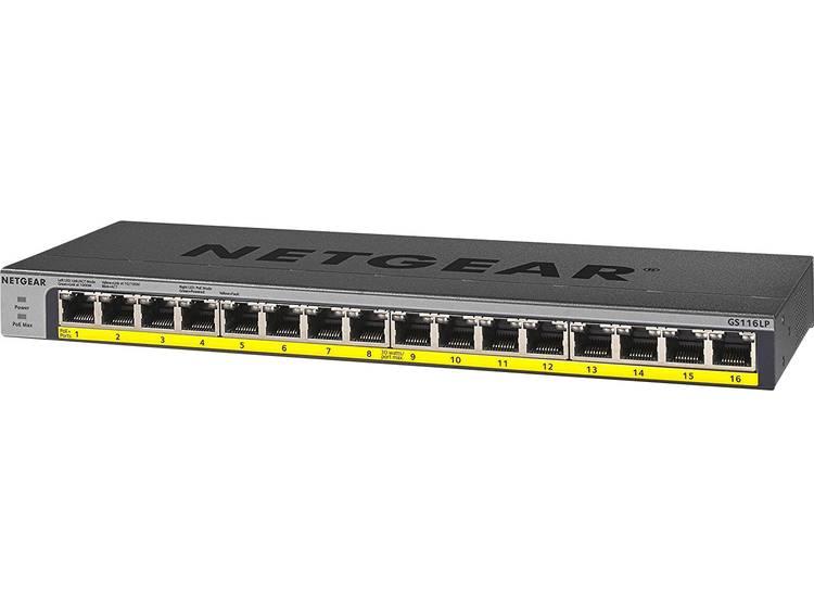 NETGEAR GS116LP Netwerk switch RJ45 16 poorten PoE-functie