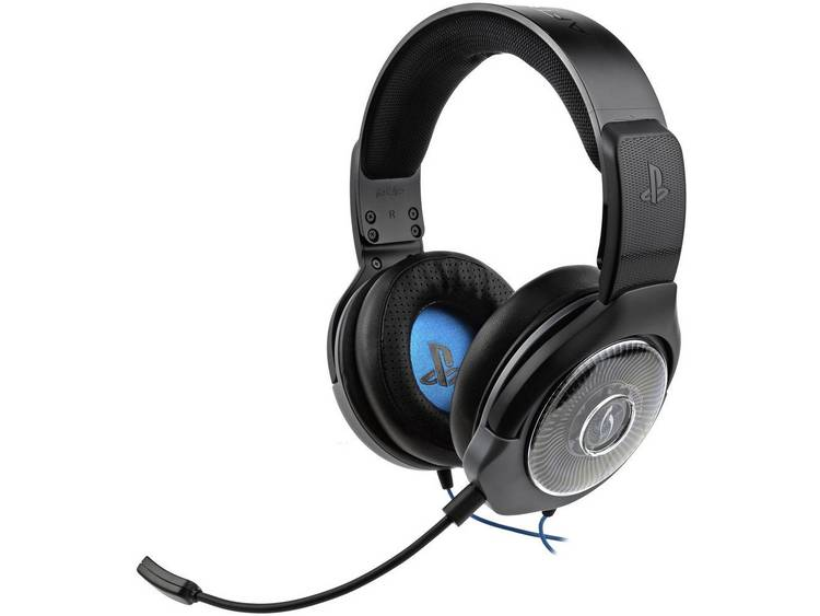 Gaming headset 3.5 mm jackplug Kabelgebonden Afterglow AG6 (Sony Lizenz) On Ear Zwart-blauw