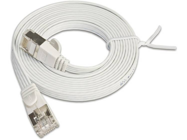 Netwerkkabel RJ45 CAT 6 U/FTP 1 m Wit Slim Wirewin
